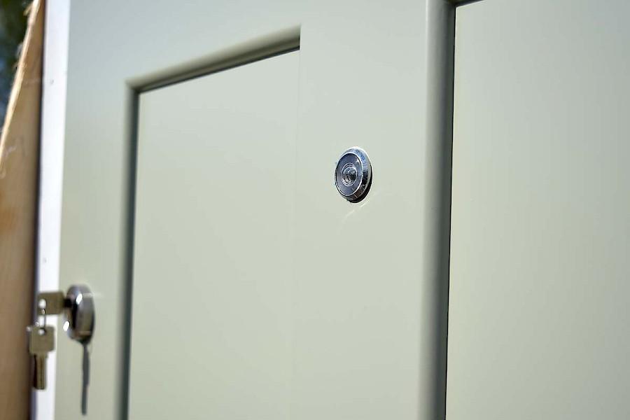 Vahva luodinkestävä ovi 101x218x13cm harma | Laitetori.com